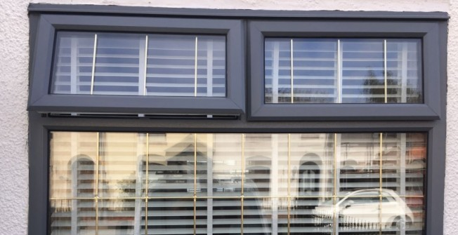 Paint UPVC Windows Grey in Abergarwed