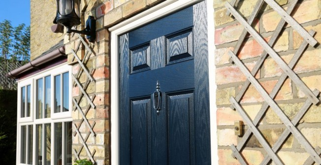 Coloured UPVC Doors in Alltour